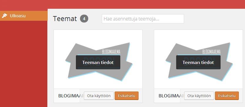 Blogimaailma ulkoasu